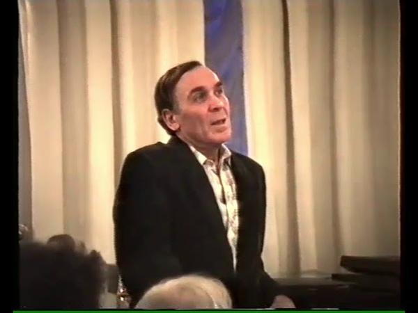 Владимир Заманский читает прозу и стихи из романа Доктор Живаго Бориса Пастернака 27 3 1990г