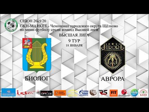 Обзор игры Биолог - Аврора 9 тур GKH-MARKEТ ВЫСШАЯ ЛИГА