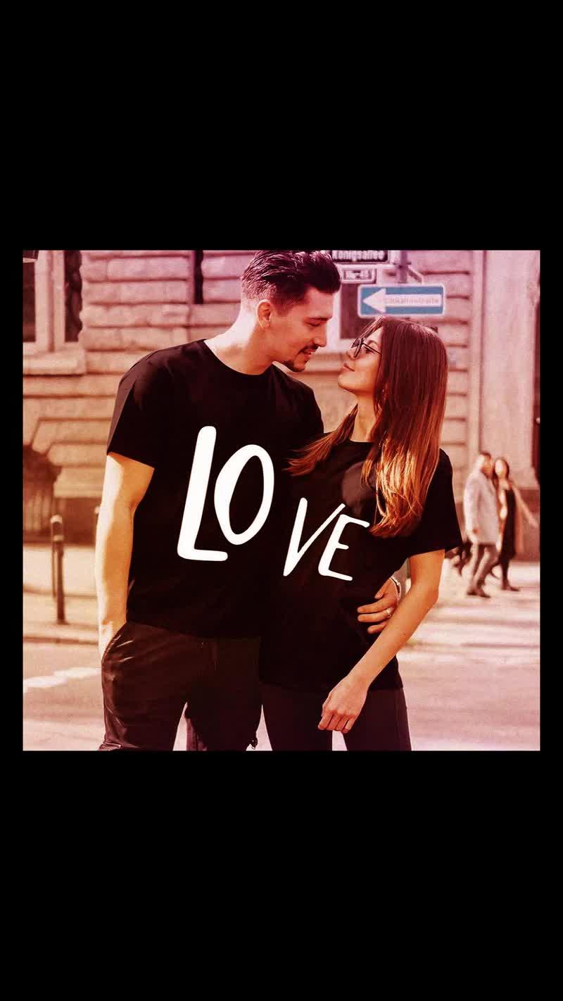 Парные футболки на День влюблённых