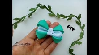Mini bow made of rep ribbon DIY Мини-бантик из репсовой ленты