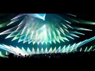 320 лазеров на концерте группы The Prodigy