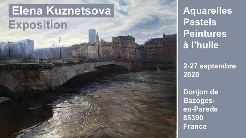Visite de l'exposition de peinture au Donjon de Bazoges en Pareds Apprendre la peinture avec Elena