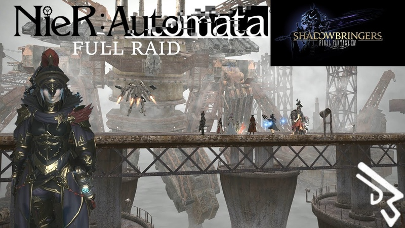 FFXIV NieR Automata FULL RAID The Copied Factory (Machinist)