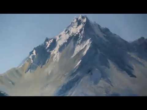 Paesaggio di montagna. Igor Saharov .Rossiya .Il nuovo video tutorial.