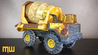 Restoration Tonka Mighty Cement Mixer 1985s - very rusty Tonka Toy Truck