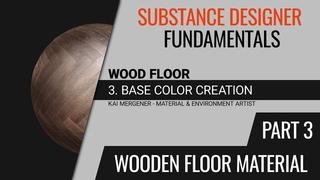 Substance Designer Fundamentals - Creating a Wooden Floor Material | Base Color [Part 3] [GER]