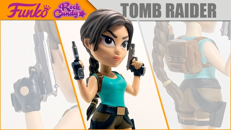Видео обзор на фигурку от FUNKO из серии ROCK CANDY Tomb Raider Lara Croft feat @Андрей Бойко