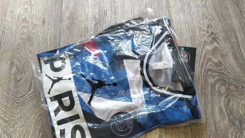 Обзор комплекта ПСЖ Air Jordan, футболка и штаны. Football shop online | Футбольные товары