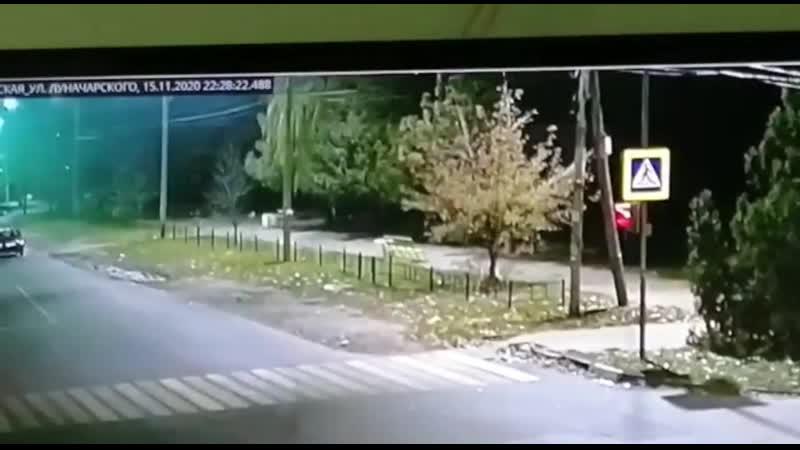 ДТП на пересечении Комсомольской и Луначарского в Батайске 15 11 2020