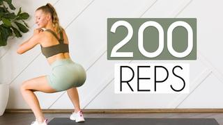 Испытание на 200 повторений приседаний - Эффективный тонус и подтяжка ягодиц и бедер. 200 REP SQUAT CHALLENGE (Effectively Tone & Lift the Booty & Thighs)