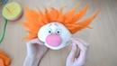 Куклы из капрона Клоун / how to make clown