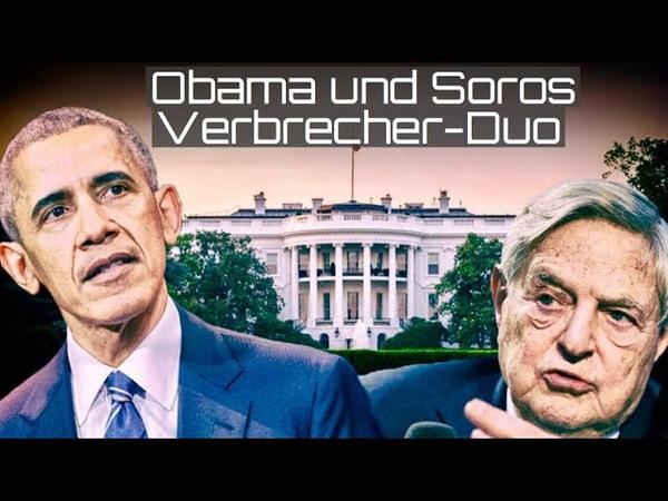 Obama und Soros Das Verbrecher Duo fliegt auf