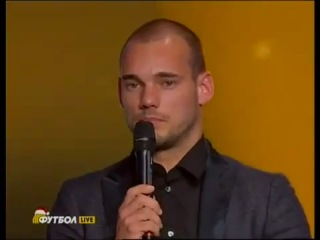 Mourinho crying after Wesley Sneijder speech in FIFA Ballon d'Or AWARD 2010