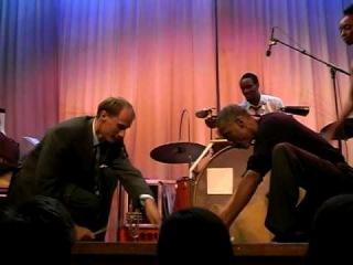 Joseph, Josette, Chester, and Ulf tap & drum improv - Herrang 2009 week 3