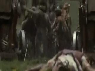 Битва израильтян с филистимлянами. Батальная сцена из к/ф Царь Давид.