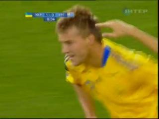 Самый быстрый гол в истории сборной Украины (Андрей Ярмоленко на 15 сек.)