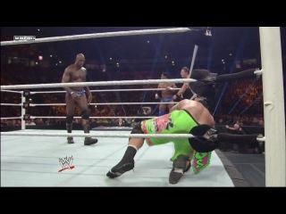 [WM] The Usos & Great Khali vs. Prime Time Players & The Miz