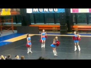 Чемпионат по черлидингу в Праге Dance Freestail Pom 3место