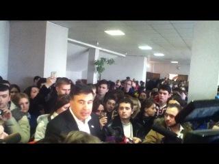 Саакашвили про люстрацию, агрессию со стороны России и о Тимошенко