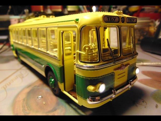 Троллейбус ТБУ-1 Ultra Models Динамика 52 СТРОИТЕЛЬСТВО МОДЕЛИ.