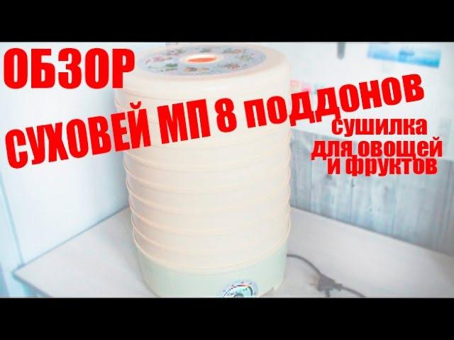 Суховей МП 8 поддонов сушилка для овощей и фруктов ОБЗОР