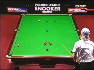 2005 Premier League snooker Stephen Hendry v Paul Hunter frame 2