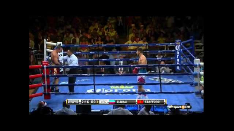 Ahmed Elbiali vs Mike Stafford full fight 26 03 2015