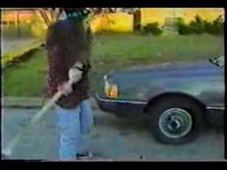 Dimebag Darrell destroys car