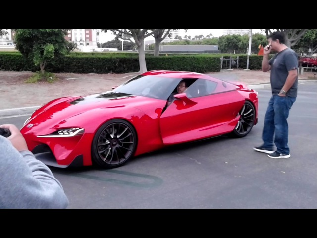 Toyota FT-1 being unloaded at Irvine Cars Coffee