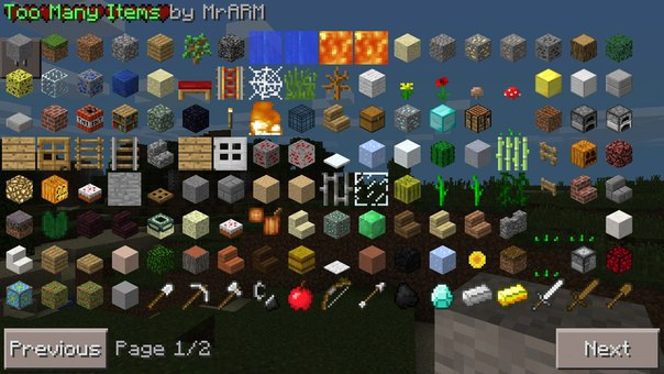 too many items майнкрафт 1.9 #10
