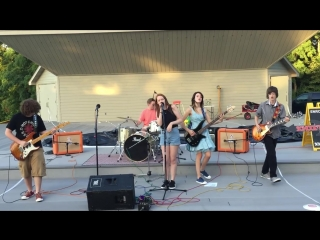 """crazy train"" (ozzy cover)  school of rock mn house band 8-5-2016 staring park amphitheater"