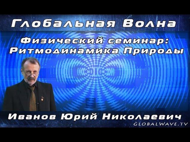 Семинар РИТМОДИНАМИКА ПРИРОДЫ Иванов Ю Н 29 04 2017 Глобальная волна