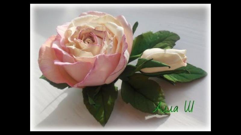 Цветы из фоамирана Роза из фоамирана Заколка