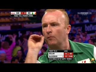 Northern Ireland vs Ireland (PDC World Cup of Darts 2016 / Second Round)