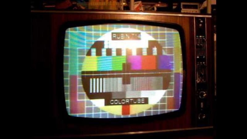 Televisore tv color RUBIN 714 tube a valvole russo secam telewizor di colortubemania Roma Italia