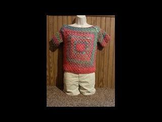 How to #Crochet Easy Granny Square Ladies Top Shirt Blouse #TUTORIAL #233