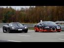 [4k] 50-350 km/h RACE Bugatti Veyron Vitesse vs Koenigsegg Agera R Highspeed Oval