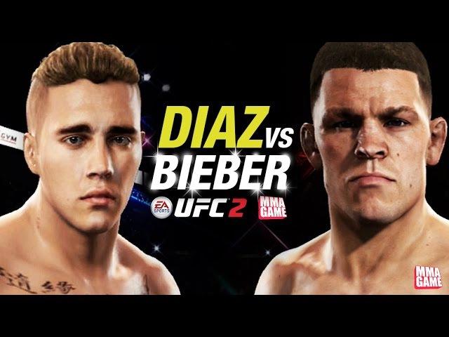 JUSTIN BIEBER vs NATE DIAZ EA SPORTS UFC 2