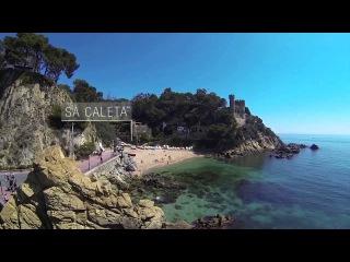 Beaches and coves in Lloret de Mar (Costa Brava)