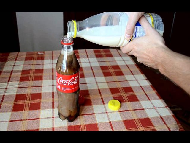 Coke mixed with Milk Experiment - Coke and milk - Kola ve Süt Karıştırılırsa Ne Olur
