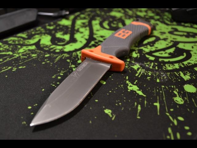 Небольшое тестирование ножа Gerber Bear Grylls