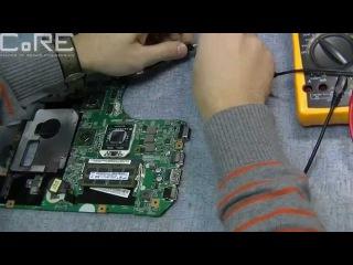 Необычный случай. Ремонт системы питания процессора на ноутбуке.