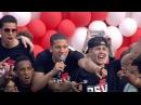PSV spelers zingen op stadhuisplein
