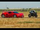Kawasaki Ninja H2r vs Bugatti Veyron Drag Race Lamborghini Aventador vs F16 Fighting Falcon