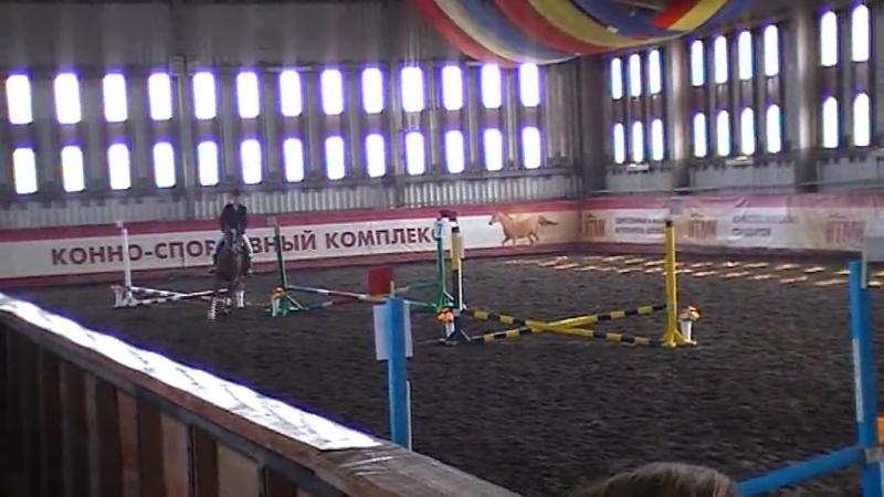 Арина на Майке конкур до 40 см КСК Уралец 1 место