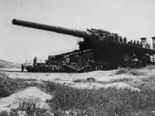 Немецкая артиллерия большого калибра: мортира Карл, железнодорожное орудие Дора