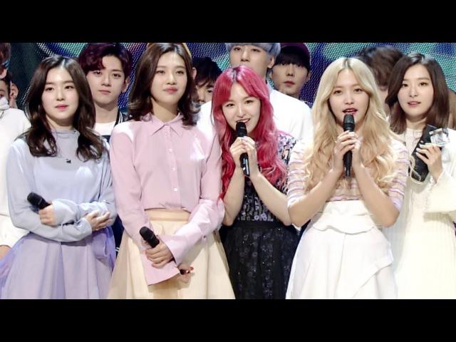 《Inkigayo WIN》 인기가요 1위 발표 Red Velvet(레드벨벳) - One Of These Nights(7월 7일) 20160327