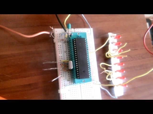 UYGULAMA-1 Micro C for PIC - PIC18F4550 ile butonsuz led diode yak-söndür denemesi