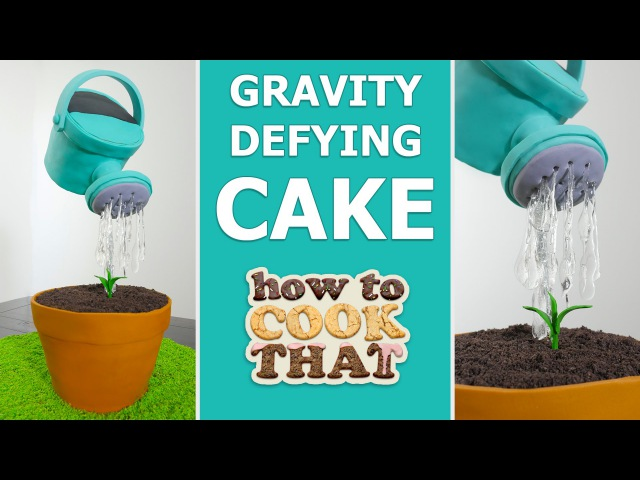 GRAVITY DEFYING WATERING CAN CAKE How To Cook That Ann Reardon spon