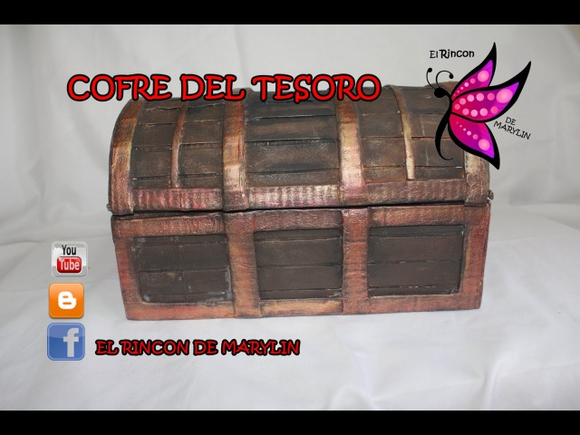 DIY COMO HACER UN COFRE DE CARTON